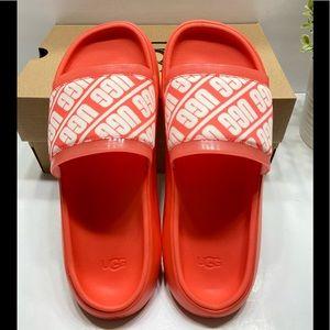NEW UGG Ruette Womens Graphic Logo Slide Sandals